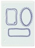 Συρμένα χέρι doodle πλαίσια Στοκ Φωτογραφία