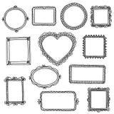 Συρμένα χέρι doodle πλαίσια Στοκ φωτογραφίες με δικαίωμα ελεύθερης χρήσης