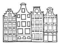 Συρμένα χέρι doodle σπίτια Στοκ Εικόνα