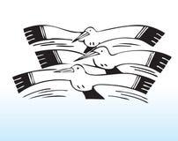 συρμένα seagulls χεριών ελεύθερη απεικόνιση δικαιώματος