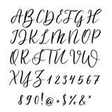 συρμένες επιστολές χερ&iota Τυπογραφία εγγραφής και συνήθειας για τα σχέδιά σας Διανυσματικός τύπος Στοκ Εικόνα