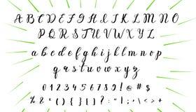 συρμένες επιστολές χερ&iota Τυπογραφία εγγραφής και συνήθειας για τα σχέδιά σας Διανυσματικός τύπος Στοκ φωτογραφία με δικαίωμα ελεύθερης χρήσης