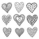 συρμένες καρδιές χεριών Στοκ Φωτογραφία
