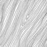 Συρμένες χέρι αφηρημένες λεπτές μαύρες γραμμές στο άσπρο υπόβαθρο Υπενθυμίζει στην ξύλινη σύσταση διανυσματική απεικόνιση