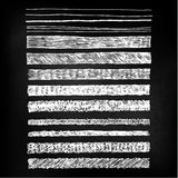 Συρμένες χέρι γραμμές πινάκων κιμωλίας ελεύθερη απεικόνιση δικαιώματος