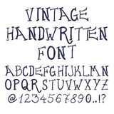 Συρμένες χέρι διακοσμητικές εκλεκτής ποιότητας κατασκευασμένες διανυσματικές επιστολές ABC Στοκ φωτογραφίες με δικαίωμα ελεύθερης χρήσης