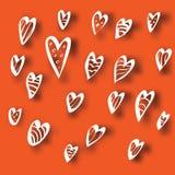 Συρμένες χέρι διανυσματικές καρδιές Στοκ φωτογραφίες με δικαίωμα ελεύθερης χρήσης