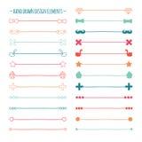 Συρμένες χέρι διανυσματικές σύνολο και κακογραφία συνόρων γραμμών Στοκ εικόνες με δικαίωμα ελεύθερης χρήσης