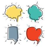 Συρμένες χέρι σκέψη και ομιλία bubbles04 Στοκ εικόνες με δικαίωμα ελεύθερης χρήσης