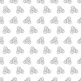 Συρμένες χέρι Χαρούμενα Χριστούγεννα και καλή χρονιά doodle άνευ ραφής PA διανυσματική απεικόνιση