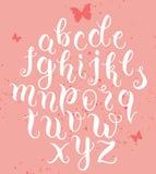 Συρμένες χέρι abc επιστολές Σύγχρονο αλφάβητο καλλιγραφίας Στοκ εικόνες με δικαίωμα ελεύθερης χρήσης