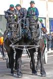 Συρμένη άλογο μεταφορά στην ημέρα Αγίου Πάτρικ ` s, Οττάβα, Καναδάς Στοκ εικόνες με δικαίωμα ελεύθερης χρήσης