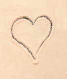 συρμένη άμμος καρδιών Στοκ Εικόνα