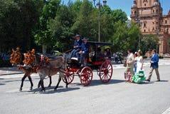 Συρμένη άλογο μεταφορά Plaza de Espana Στοκ εικόνα με δικαίωμα ελεύθερης χρήσης