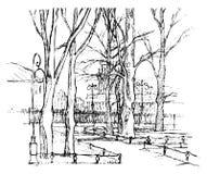 Συρμένη η χέρι διανυσματική Αγία Πετρούπολη Τέχνη γραμμών Στοκ φωτογραφίες με δικαίωμα ελεύθερης χρήσης