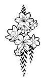Συρμένη η χέρι ομάδα λουλουδιών για διακοσμεί Στοκ Εικόνες