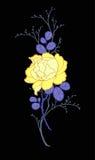 Συρμένη η χέρι ομάδα peony αυξήθηκε λουλούδι για διακοσμεί Στοκ φωτογραφία με δικαίωμα ελεύθερης χρήσης