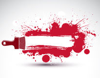 Συρμένη τέχνη φοβιτσιάρης απεικόνιση που δημιουργείται με τους παφλασμούς και μέσα ελεύθερη απεικόνιση δικαιώματος