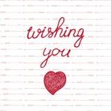Συρμένη χέρι αγάπη και doodle καρδιές λέξεων Στοκ Φωτογραφίες