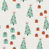 Συρμένη χέρι ανασκόπηση Χριστουγέννων Απλή διανυσματική απεικόνιση Στοκ Φωτογραφίες