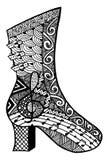 Συρμένη χέρι απεικόνιση παπουτσιών Στοκ Εικόνες