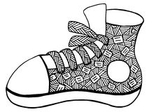 Συρμένη χέρι απεικόνιση παπουτσιών Στοκ εικόνα με δικαίωμα ελεύθερης χρήσης