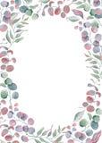 Συρμένη χέρι απεικόνιση ρυθμίσεων Watercolor floral Στοκ φωτογραφία με δικαίωμα ελεύθερης χρήσης