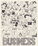 Συρμένη χέρι απεικόνιση των επιχειρησιακών doodles στοιχείων Στοκ εικόνες με δικαίωμα ελεύθερης χρήσης