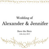Συρμένη χέρι γαμήλια κάρτα Στοκ Εικόνες