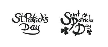Συρμένη χέρι εγγραφή ημέρας Αγίου Πάτρικ ` s Στοκ εικόνα με δικαίωμα ελεύθερης χρήσης