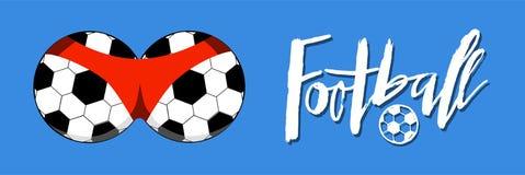 Συρμένη χέρι εγγραφή ποδοσφαίρου για ένα φλυτζάνι ποδοσφαίρου, πρωτάθλημα ποδοσφαίρου Στοκ φωτογραφία με δικαίωμα ελεύθερης χρήσης
