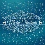 Συρμένη χέρι διακόσμηση Χαρούμενα Χριστούγεννας ελεύθερη απεικόνιση δικαιώματος