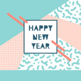 Συρμένη χέρι διανυσματική απεικόνιση - καλή χρονιά στο ύφος Στοκ Φωτογραφία