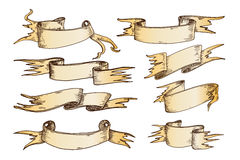 Συρμένη χέρι διανυσματική απεικόνιση κορδελλών ελεύθερη απεικόνιση δικαιώματος