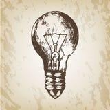 Συρμένη χέρι διανυσματική απεικόνιση - ρεαλιστικό σκίτσο λαμπών φωτός στοκ φωτογραφίες με δικαίωμα ελεύθερης χρήσης
