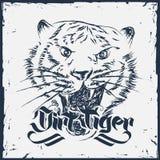 Συρμένη χέρι διανυσματική απεικόνιση τιγρών Grunge Στοκ φωτογραφία με δικαίωμα ελεύθερης χρήσης