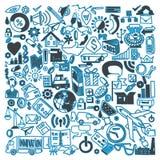 Συρμένη χέρι διανυσματική απεικόνιση των επιχειρησιακών doodles στοιχείων Στοκ Φωτογραφίες