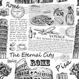 Συρμένη χέρι Ιταλία, Ρώμη απεικόνιση αποθεμάτων
