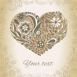 Συρμένη χέρι καρδιά Doodle Στοκ Εικόνες