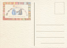 Συρμένη χέρι πίσω κάρτα Στοκ Εικόνες