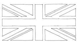 συρμένη χέρι σημαία του Ηνωμένου (UK) aka Union Jack ελεύθερη απεικόνιση δικαιώματος