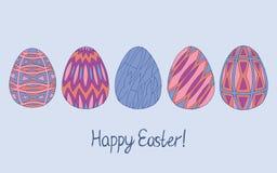 Συρμένη χέρι συλλογή σκίτσων αυγών Πάσχας Διανυσματική απεικόνιση τέχνης γραμμών σύγχρονου σχεδίου Μπορέστε να χρησιμοποιηθείτε γ απεικόνιση αποθεμάτων