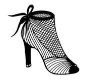 Συρμένη χέρι υψηλή απεικόνιση παπουτσιών τακουνιών Στοκ εικόνες με δικαίωμα ελεύθερης χρήσης