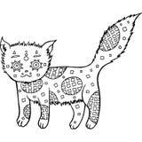 Συρμένη χέρι χρωματίζοντας σελίδα γατών Στοκ εικόνες με δικαίωμα ελεύθερης χρήσης