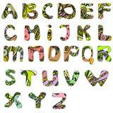 Συρμένη χέρι doodle abc πηγή Στοκ εικόνα με δικαίωμα ελεύθερης χρήσης