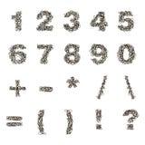 Συρμένοι χέρι διανυσματικοί αριθμοί Στοκ φωτογραφία με δικαίωμα ελεύθερης χρήσης