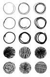 Συρμένοι χέρι κύκλοι κακογραφίας Στοιχεία Eps 10 σχεδίου Στοκ φωτογραφίες με δικαίωμα ελεύθερης χρήσης