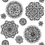Συρμένοι χέρι κύκλοι mandala Στοκ Εικόνα