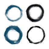 Συρμένοι χέρι χρωματισμένοι grunge κύκλοι Στοκ φωτογραφίες με δικαίωμα ελεύθερης χρήσης