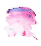 Συρμένος λεκές χρωμάτων τέχνης μορφής χρώματος ακουαρελών Watercolor χέρι splatter Στοκ Φωτογραφία